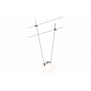 Светодиодный светильник с регулировкой направления света для тросовой системы Paulmann Spot IceLED 94092, LED 4W, матовый хром, белый, металл, пластик