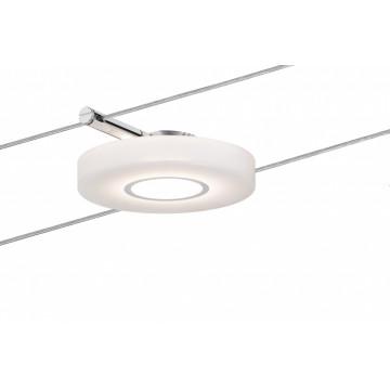 Светодиодный светильник для тросовой системы Paulmann Spot DiscLED I 94090, LED 4W, хром, белый, металл, пластик