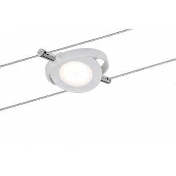 Светодиодный светильник с регулировкой направления света для тросовой системы Paulmann Spot RoundMac 94088, LED 4W, белый, металл, металл с пластиком