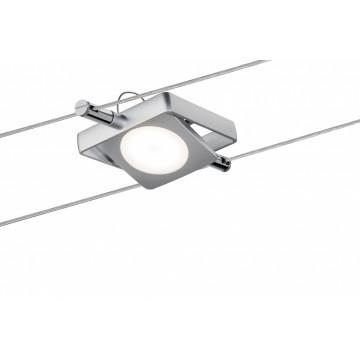 Светодиодный светильник с регулировкой направления света для тросовой системы Paulmann Spot MacLED 94089, LED 4W, матовый хром, металл, металл с пластиком