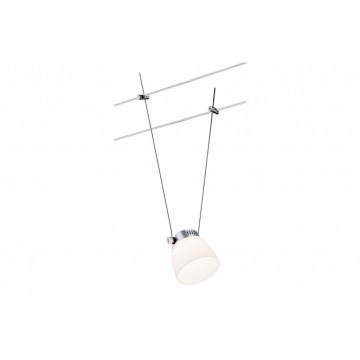 Светодиодный светильник с регулировкой направления света для тросовой системы Paulmann Spot IceLED II 94093, LED 4W, матовый хром, белый, металл, пластик