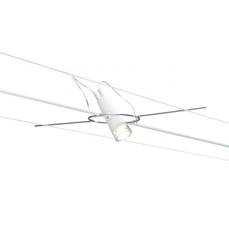 Светодиодный светильник с регулировкой направления света для тросовой системы Paulmann Drum 94101, LED 3W, металл, металл с пластиком