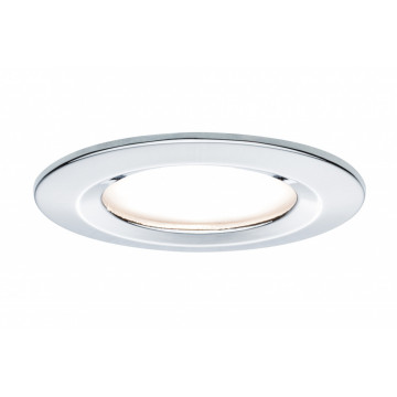 Встраиваемый светодиодный светильник Paulmann Premium LED 230V Slim Coin Satin 51mm 93862, IP44, LED 6,8W, хром, металл