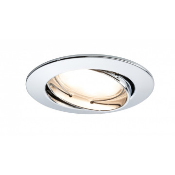 Встраиваемый светодиодный светильник Paulmann LED 230V Coin 51mm dimmable 93965, IP23, LED 6,8W, металл
