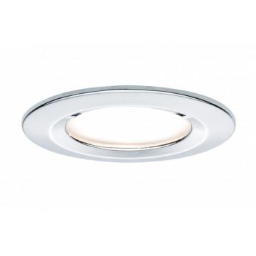 Встраиваемая светодиодная панель Paulmann Premium LED 230V Slim Coin Satin 51mm 93862, IP44