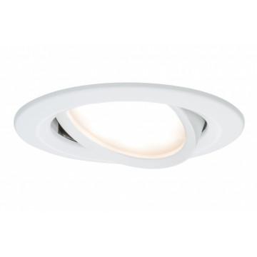 Встраиваемая светодиодная панель Paulmann Premium LED 230V Slim Coin Satin 51mm 93864, IP23, LED 6,8W, металл