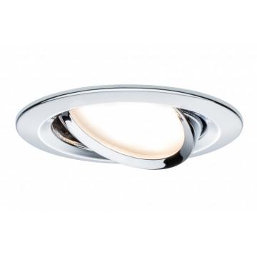 Светодиодная панель Paulmann Premium LED 230V Slim Coin Satin 51mm 93867, IP23, LED 6,8W, металл