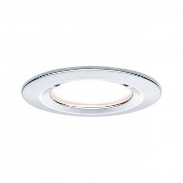 Встраиваемый светодиодный светильник Paulmann Premium LED 230V Slim Coin Satin 51mm dimmable 93874, IP44, LED 6,8W, хром, металл