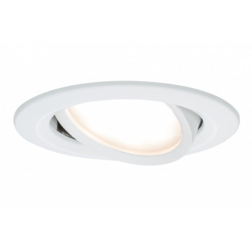 Встраиваемая светодиодная панель Paulmann Nova Plus Premium LED 230V Slim Coin Satin 51mm dimmable 93875, IP23, LED 6,8W, металл