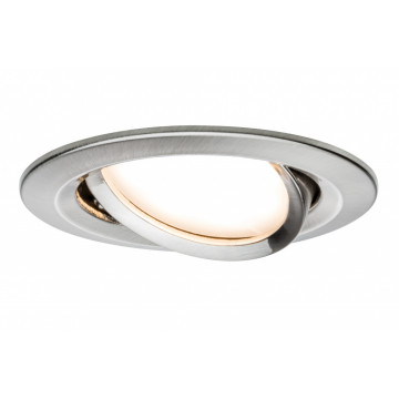 Встраиваемая светодиодная панель Paulmann Nova Plus Premium LED 230V Slim Coin Satin 51mm dimmable 93878, IP23, LED 6,8W, металл