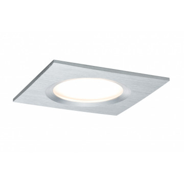 Встраиваемая светодиодная панель Paulmann Nova Plus Premium LED 230V Slim Coin Satin 51mm dimmable 93894, IP44, LED 6,8W, алюминий, металл