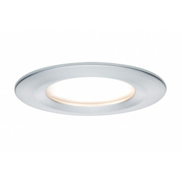 Встраиваемый светодиодный светильник Paulmann Premium LED 230V Slim Coin Satin 51mm dimmable 93901, IP44, LED 6,8W, алюминий, металл