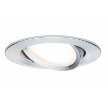 Встраиваемая светодиодная панель Paulmann Nova Plus Premium LED 230V Slim Coin Satin 51mm dimmable 93903, IP23, LED 6,8W, металл