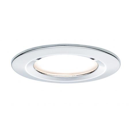 Встраиваемый светодиодный светильник Paulmann Premium LED 230V Slim Coin Satin 51mm 93861, IP44, LED 6,8W, хром, металл