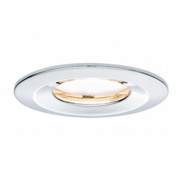 Встраиваемый светодиодный светильник Paulmann Nova Plus Premium LED IP65 230V Slim Coin Satin 51mm dimmable 93883, IP65, LED 6,8W, хром, металл