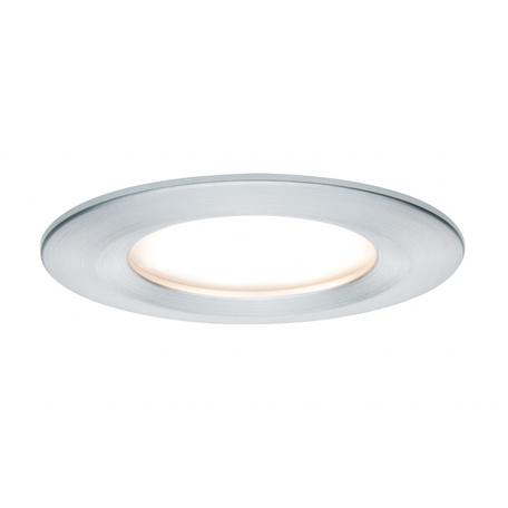 Встраиваемый светодиодный светильник Paulmann Premium LED 230V Slim Coin Satin 51mm 93896, IP44, LED 6,8W, алюминий, металл