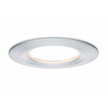 Встраиваемый светодиодный светильник Paulmann Premium LED 230V Slim Coin Satin 51mm 93897, IP44, LED 6,8W, алюминий, металл