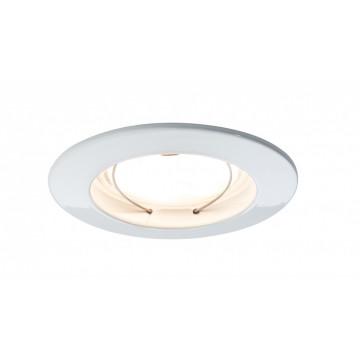 Встраиваемый светодиодный светильник Paulmann LED 230V Coin 51mm dimmable 93956, IP44, LED 6,8W, белый, металл