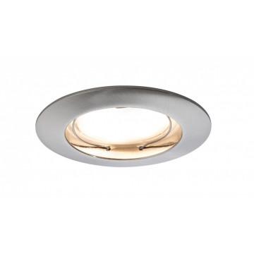 Встраиваемый светодиодный светильник Paulmann LED 230V Coin 51mm dimmable 93958, IP44, LED 6,8W, металл