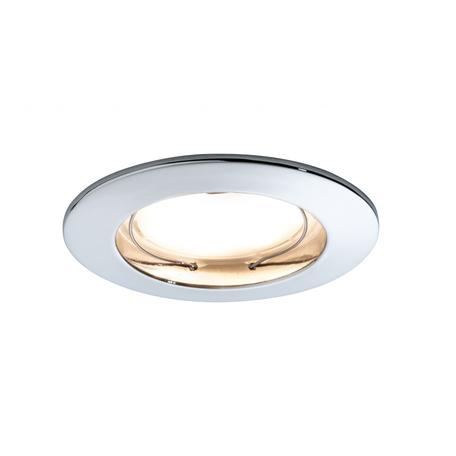 Встраиваемый светодиодный светильник Paulmann LED 230V Coin 51mm dimmable 93960, IP44, LED 6,8W, хром, металл