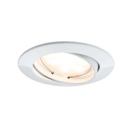 Встраиваемый светодиодный светильник Paulmann LED 230V Coin 51mm 93978, IP23, LED 6,8W, металл