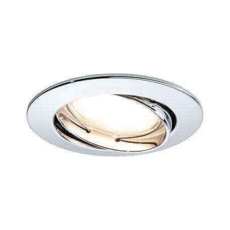 Встраиваемый светодиодный светильник Paulmann LED 230V Coin 51mm 93982, IP23, LED 6,8W, металл