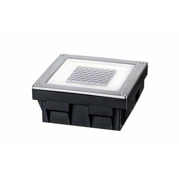Встраиваемый в уличное покрытие светодиодный светильник Paulmann Solar Cube LED 93774, IP67, LED 0,24W, сталь, металл с пластиком