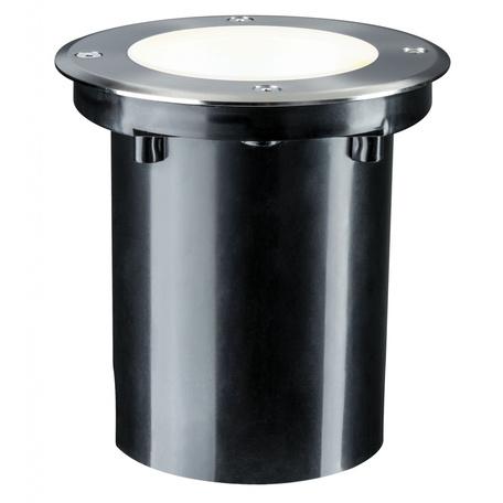 Встраиваемый в уличное покрытие светодиодный светильник Paulmann Plug & Shine Floor 93906, IP67, LED 3,3W, серебро, металл