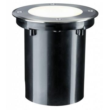Встраиваемый в уличное покрытие светодиодный светильник Paulmann Plug & Shine Floor 93907, IP67, LED 6W, серебро, металл