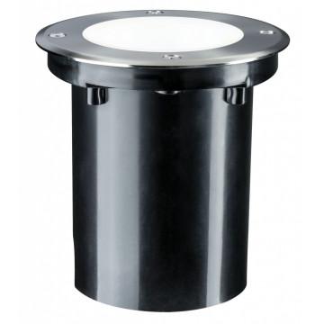 Встраиваемый в уличное покрытие светодиодный светильник Paulmann Plug & Shine Floor 93910, IP67, LED 3,3W, серебро, металл
