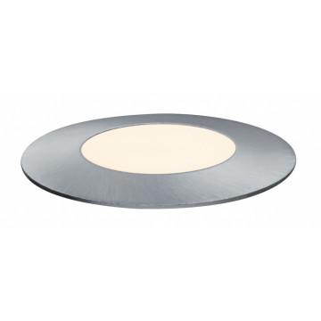 Встраиваемый в уличное покрытие светодиодный светильник Paulmann Plug & Shine Floor Mini 93951, IP65, LED 2,5W, серебро, металл