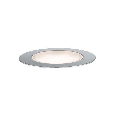 Встраиваемый в уличное покрытие светодиодный светильник Paulmann Plug & Shine Floor 93953, IP65, LED 1,3W, серебро, металл