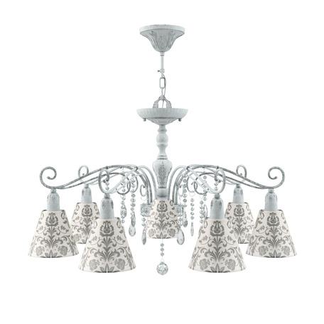 Потолочно-подвесная люстра Maytoni Lamp4You Provence 17 E4-07-G-LMP-O-1-CRL-E4-07-TR-DN, 7xE14x40W, серый, прозрачный, металл, текстиль, хрусталь