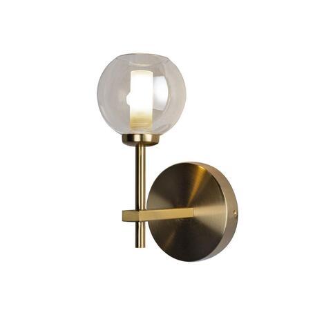 Бра Loft It Orion 10020/1W, 1xG9x12W, матовое золото, коньячный, металл, стекло