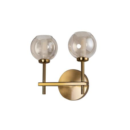 Бра Loft It Orion 10020/2W, 2xG9x12W, матовое золото, дымчатый, металл, стекло