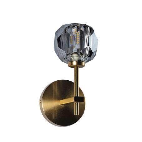 Бра Loft It Orion Smoky 10021/1W, 1xG9x12W, матовое золото, дымчатый, металл, хрусталь