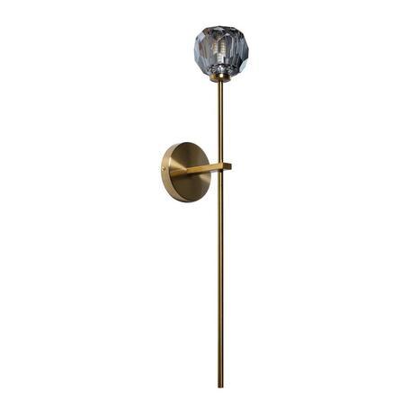 Бра Loft It Orion Smoky 10021/1WL, 1xG9x12W, матовое золото, дымчатый, металл, хрусталь