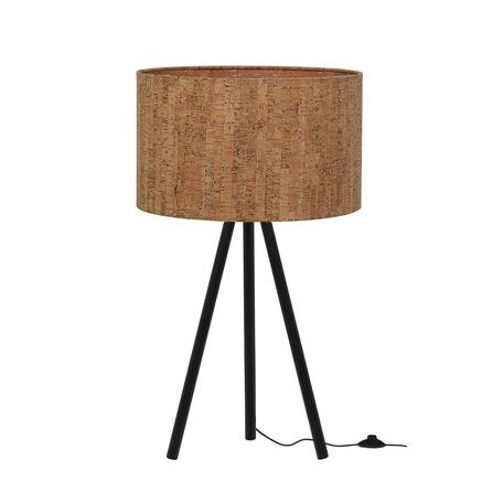 Настольная лампа Loft It Nordic 1700-TBK+SC, 1xE27x40W, черный, коричневый, металл, пластик