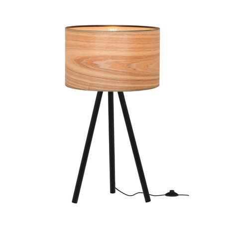 Настольная лампа Loft It Nordic 1700-TBK+SW, 1xE27x40W, черный, белый с золотом, металл, пластик