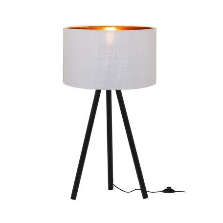 Настольная лампа Loft It Nordic 1700-TBK+SWH, 1xE27x40W, черный, белый с золотом, металл, текстиль