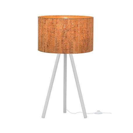 Настольная лампа Loft It Nordic 1700-TWH+SC, 1xE27x40W, белый, коричневый, металл, пластик