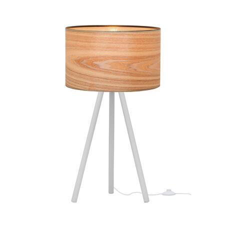 Настольная лампа Loft It Nordic 1700-TWH+SW, 1xE27x40W, белый, белый с золотом, металл, пластик