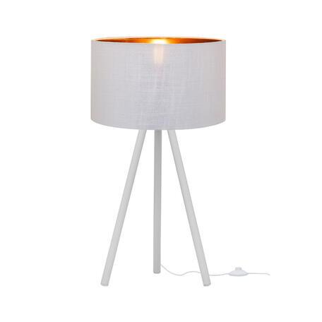 Настольная лампа Loft It Nordic 1700-TWH+SWH, 1xE27x40W, белый, белый с золотом, металл, текстиль