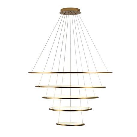 Подвесной светодиодный светильник Loft It Ring 10015/5, LED 122W, матовое золото, металл