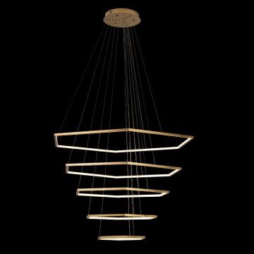 Подвесной светодиодный светильник Loft It Ring 10016/5, LED 122W, матовое золото, металл - миниатюра 2