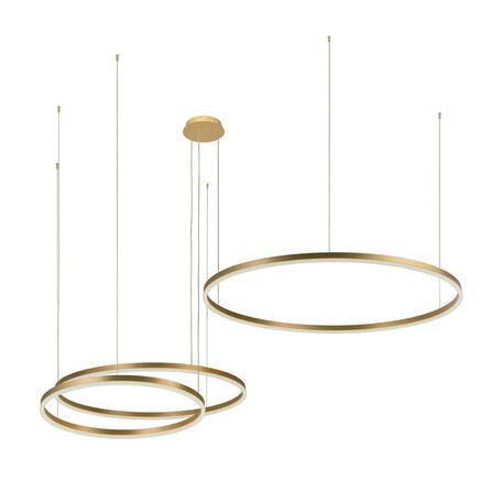 Подвесной светодиодный светильник Loft It Ring 10017/3L, LED 151W, матовое золото, металл