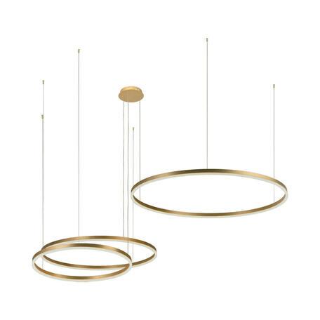 Подвесной светодиодный светильник Loft It Ring 10017/3M, LED 113W, матовое золото, металл