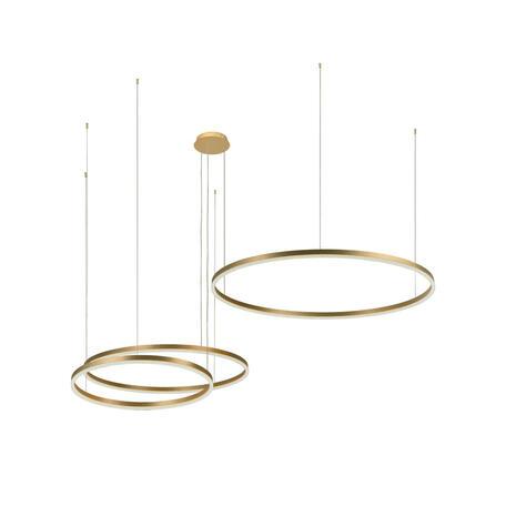 Подвесной светодиодный светильник Loft It Ring 10017/3S, LED 76W, матовое золото, металл