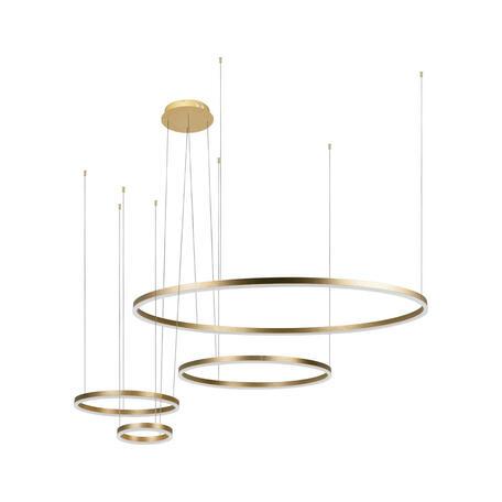 Подвесной светодиодный светильник Loft It Ring 10017/4S, LED 126W, матовое золото, металл