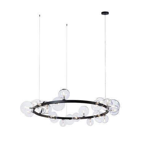 Подвесной светильник Loft It Molecule 10023/1200, 24xG4, черный, прозрачный, металл, стекло